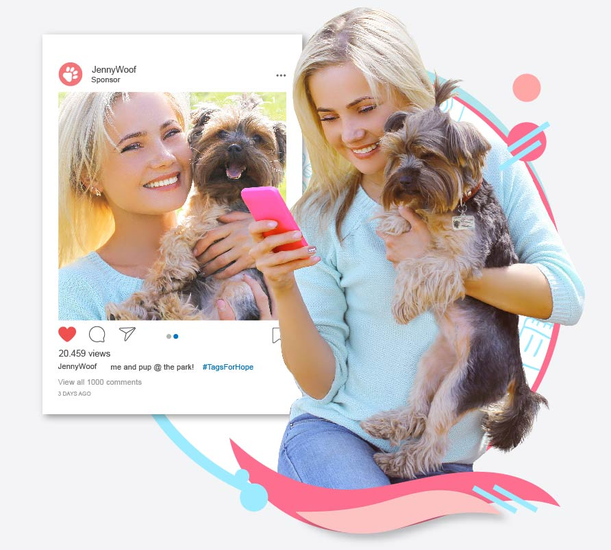 An influencer sharing photo on Instagram and making a difference