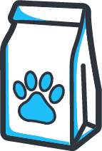 Doggie bag cart icon